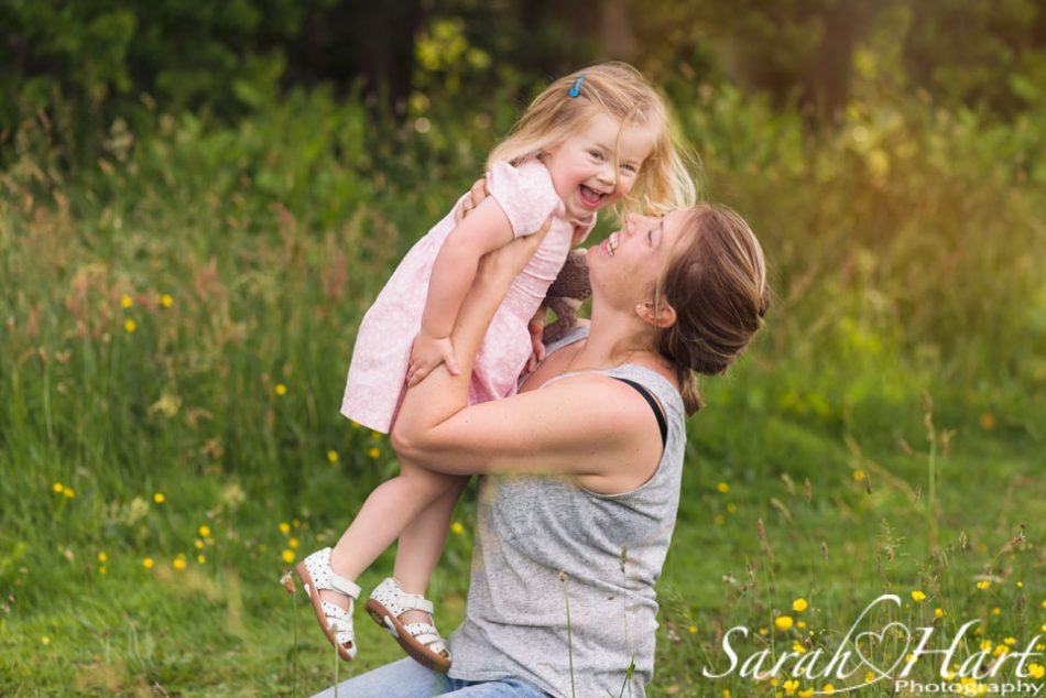 girl and her mummy on a family photography session, kent