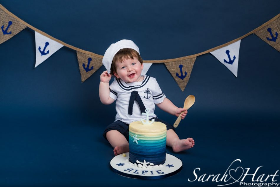 Happy Little Sailor Boy Cake Smash Image