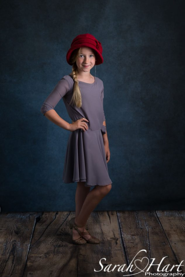 fine art photographer Sarah Hart Photography, girl in red hat