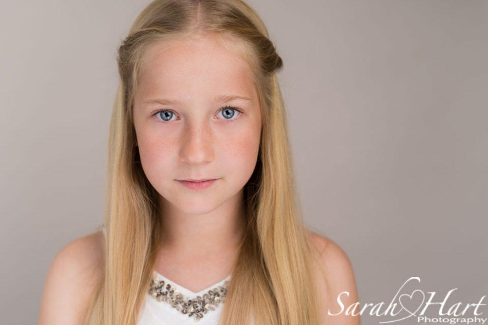 headshot of young girl for acting, children's head shots tonbridge