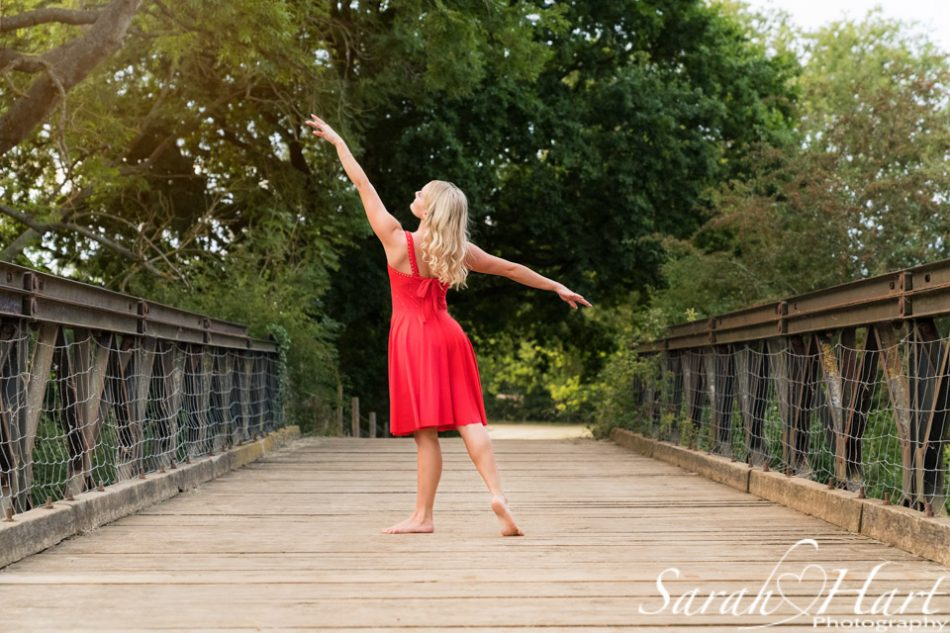 Dance photographer in kent, dancer on a bridge