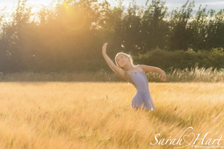 young girl dancing in kent countryside, tonbridge dance photography