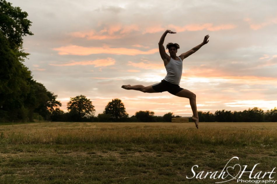 leaping in the sunset, golden green dance photographer