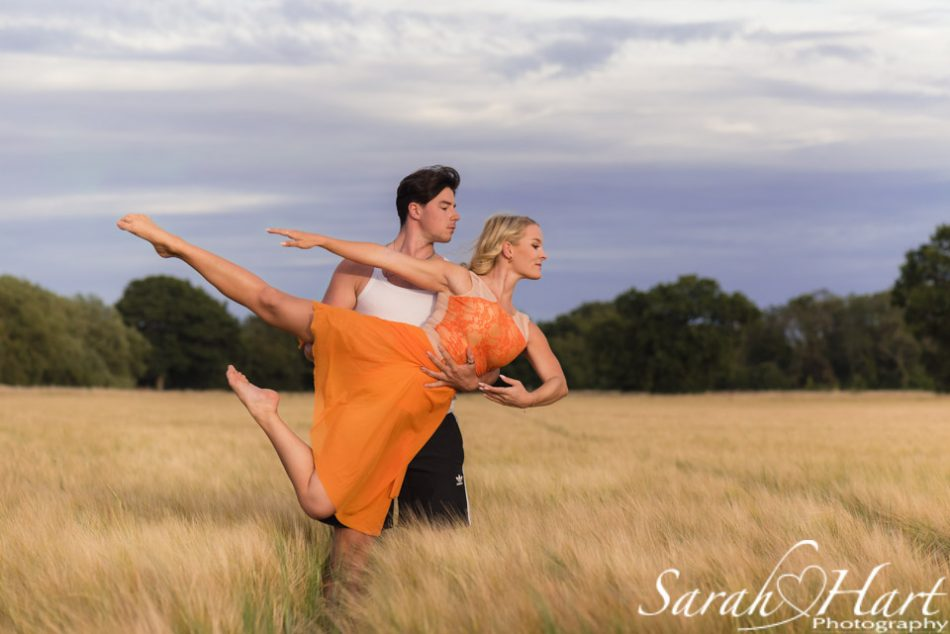 couple dancing in a field of wheat, kent dance photographer
