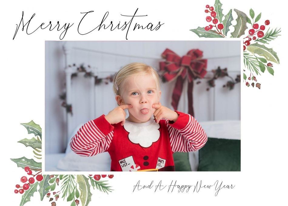 Christmas card design for Sarah Hart Photography