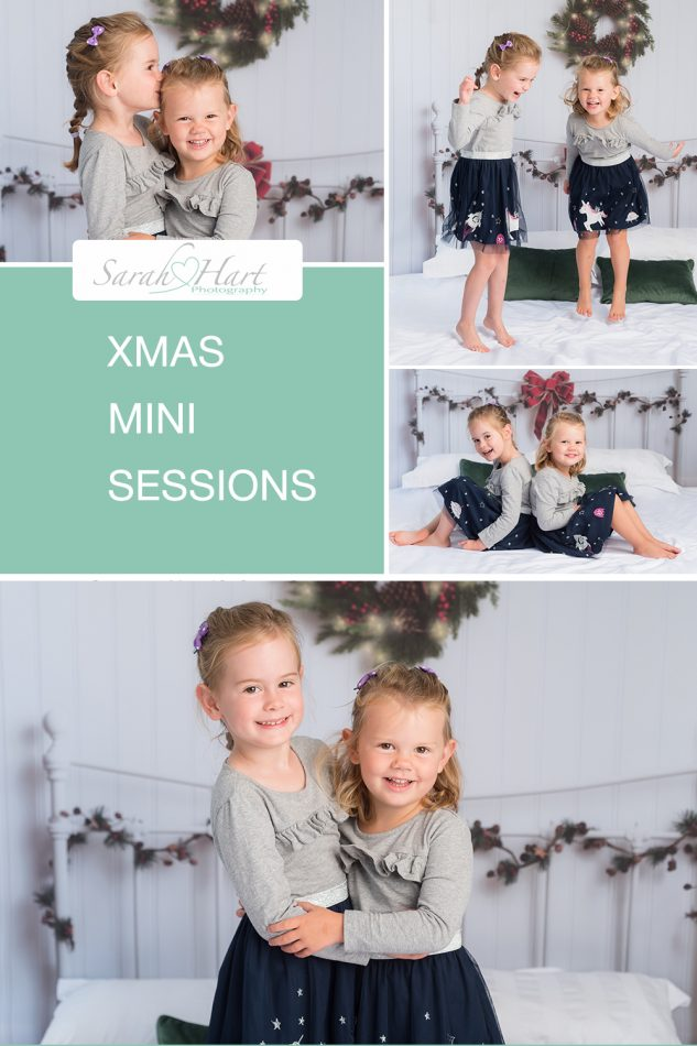 Sisters at their Xmas mini session 2020, Kent children's photographer