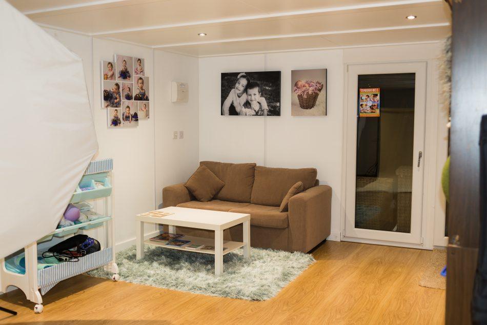 Inside of the Tonbridge photography studio of Sarah Hart Photography