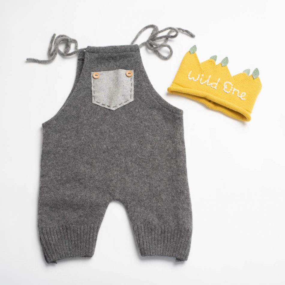 romper and crown for a Wild One cake smash