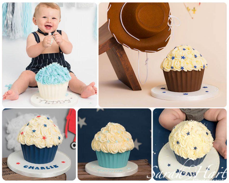 Boy cake smash cakes taken by Tonbridge cake smash photographer,