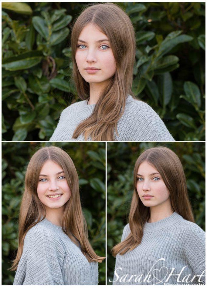 Teenage girl modelling at her home in Tunbridge Wells, for Tonbridge headshot photographer