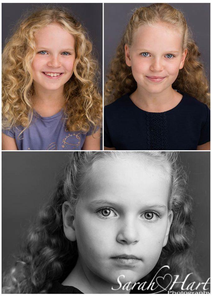 Tonbridge headshot photographer takes 3 striking images of young girl
