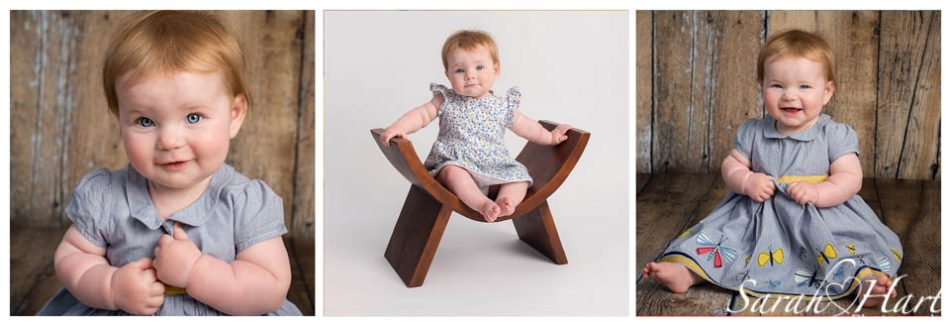 Little girl trio of images by Kent baby photographer