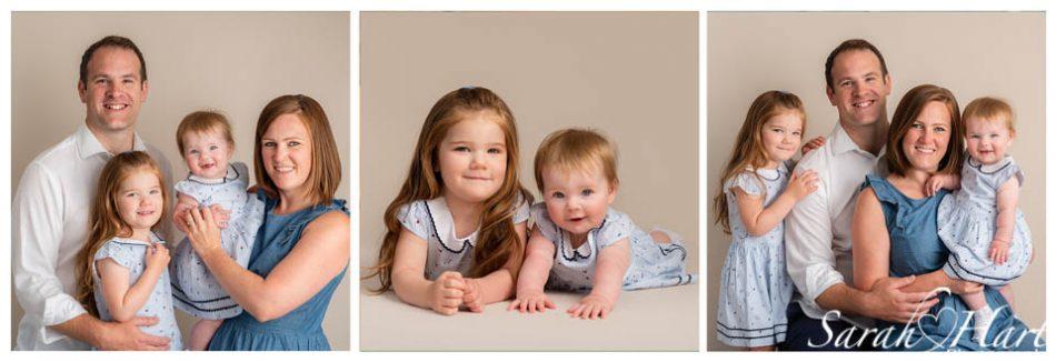 Family images taken at a milestone photoshoot