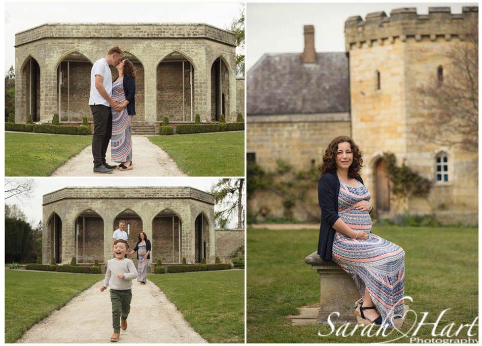 Outdoor maternity photography at Chiddingstone Castle Sevenoaks