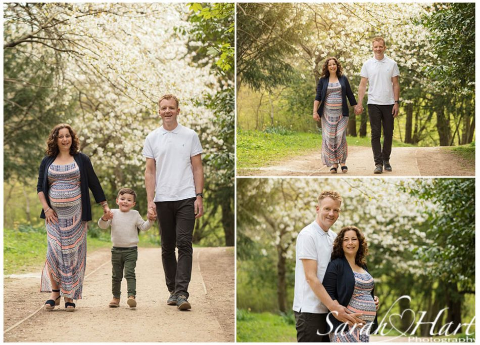 Blossom as a backdrop for this lovely family expecting baby number 2