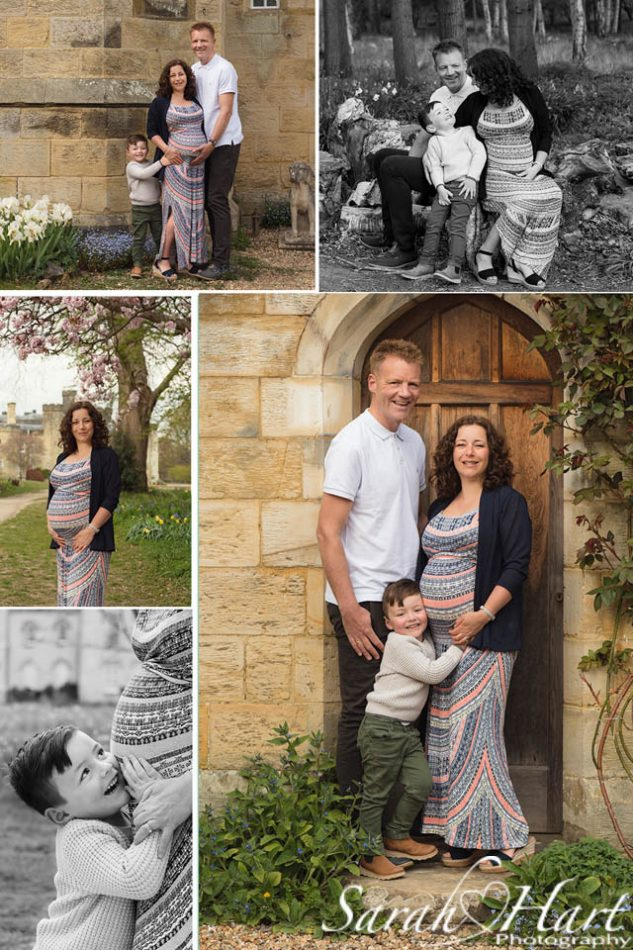 Beautiful outdoor maternity photography for family expecting baby number 2