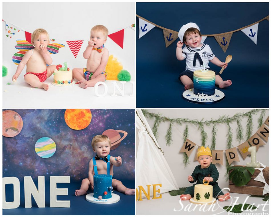 bright and bold themes used by a sevenoaks cake smash photographer