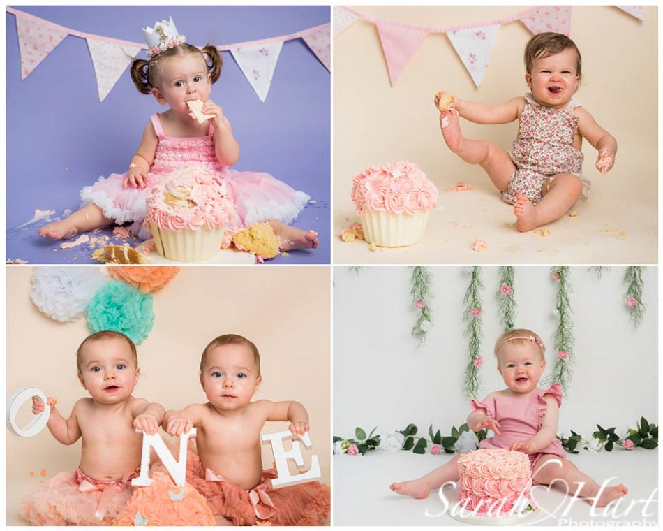 kent cake smash photographer creates girly designs
