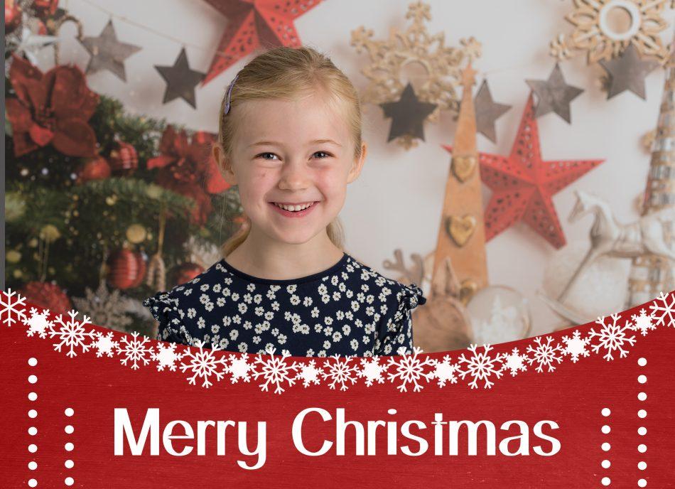 Christmas card design for mini photoshoot by Tonbridge Photographer
